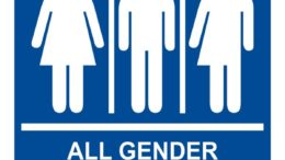 ADA-Gender-Neutral-Sign-RRE-25413-99 White on Blue 600