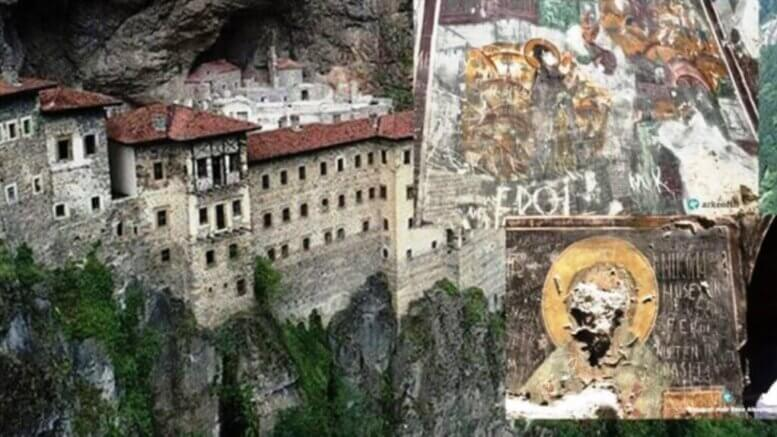 Defaced frescoes